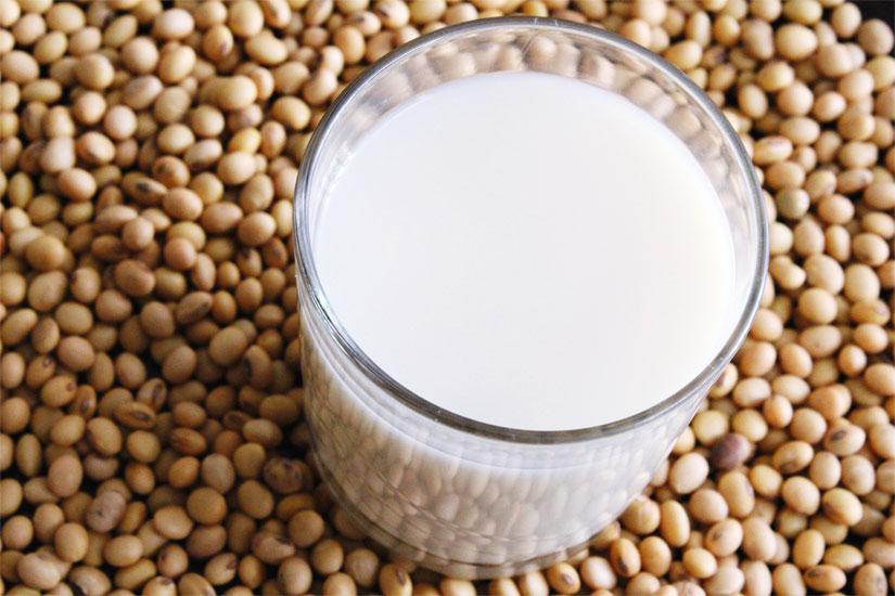 Latte di soia e semi di soia