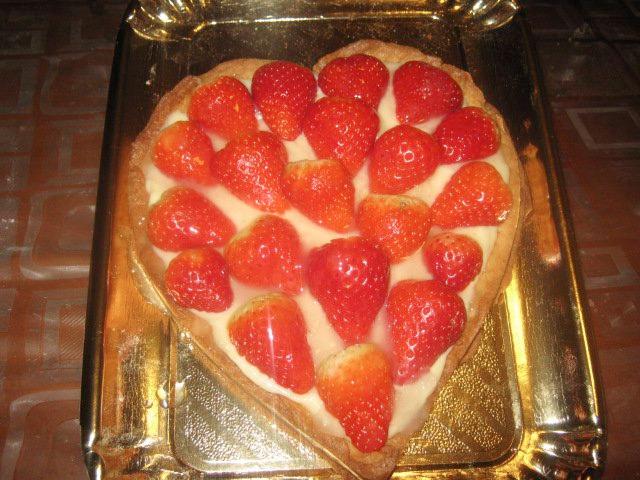 Crostata di fragole di san valentino