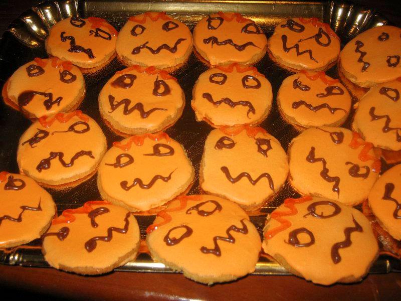 """Biscottini """"zucca"""" di halloween"""