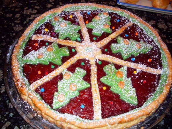 Crostata di marmellata natalizia