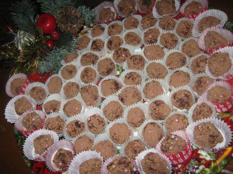 Tartufi di castagne al cioccolato
